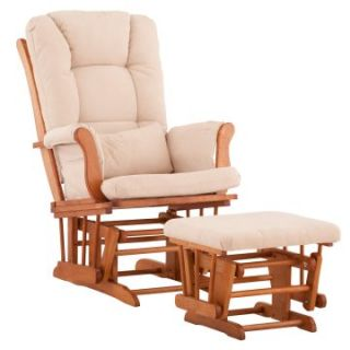 Storkcraft Tuscany Glider and Ottoman with Free Lower Lumbar Pillow