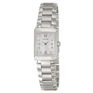 Concord Carlton Stainless Steel Diamond Watch
