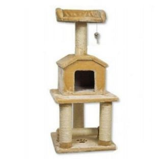 Go Pet Club Cat Tree   Beige   45 in.   Cat Trees