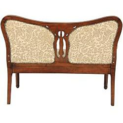 Mahogany Golden Ivy Queen Anne Sitting Room Love Seat (China
