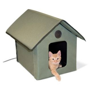 Pet Products Outdoor Heated Kitty House   Cat Condos