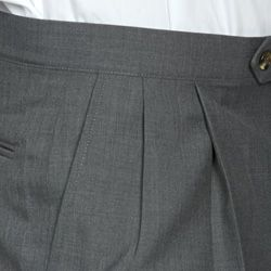 Sansabelt Mens Four Seasons Grey Pleated Dress Pants