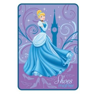 Disney Princess Shoes Matter Blanket   Girls Bedding