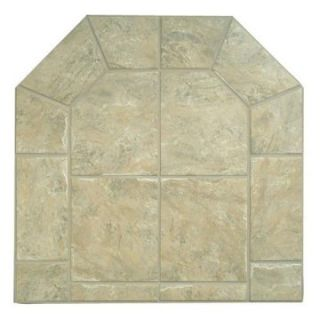 48 x 54 in. Graysen Woods Tumbled Edge Tile Series Hearth Pad Moss w