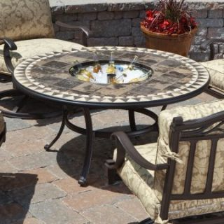 Alfresco Home Assisi 48 in. Beverage / Fire Pit Chat Table with
