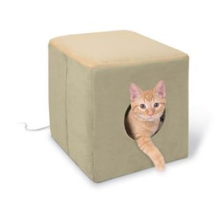 Pet Products Thermo Kitty Cottage   Sage / Tan   Cat Beds at
