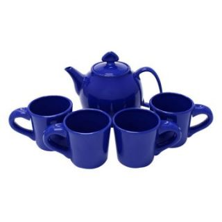 Chantal 5 Piece Tea Set   Indigo blue   Teapot Sets