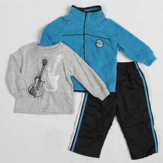 Kids Headquarters Toddler Boys Guitar Graphic 3 piece Clothing Set