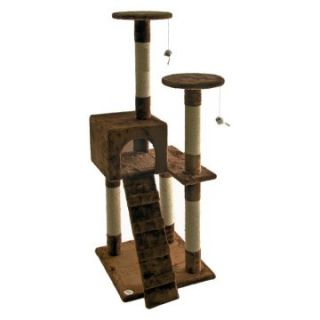 Go Pet Club Cat Tree Furniture 52 in. High   Brown   Cat Trees at
