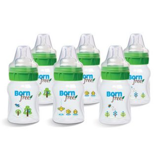 Born Free Five ounce BPA free Eco Deco Baby Bottles (Pack of Six