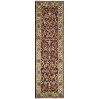 Handmade Heritage Treasures Red/ Gold Wool Runner (23 x 4