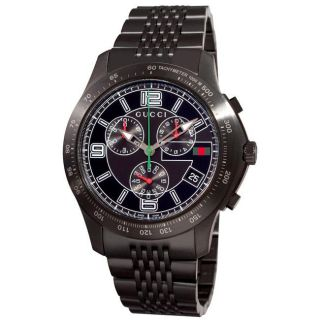 Gucci Mens G Timeless Black PVD Steel Chronograph Watch