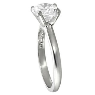 Tressa Collection Silvertone Round CZ Bridal & Engagement style Ring