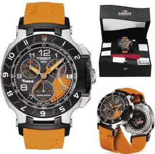 Tissot Mens T Race Moto GP Limited Edition Carbon Fiber Dial Watch