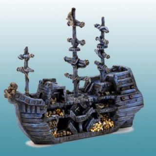 Sunken Pirate Treasure Ship Aquarium Decoration   Aquarium Plants