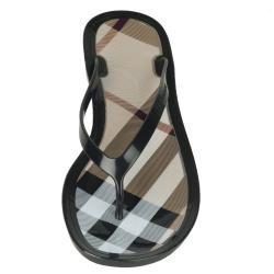 Burberry Womens Brown Logo Flip Flops