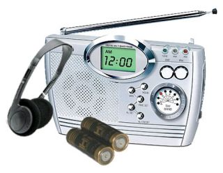 Compact Digital AM/FM Shortwave Radio Alarm Clock