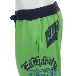 Ed Hardy Mens Tiger Head Lounge Shorts