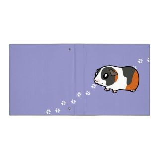Cartoon Guinea Pig (tortoiseshell) binders by SugarVsSpice