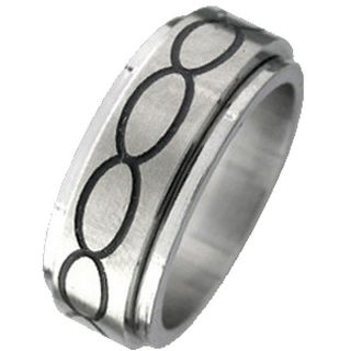 Stainless Steel Infinity Circle Spinner Ring