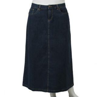 new gear womens plus size classic denim skirt