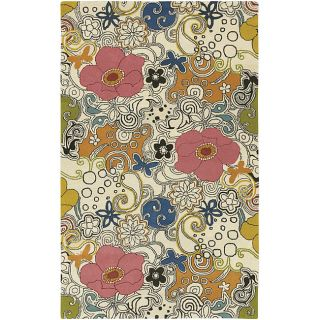 Hand tufted Contemporary Multi Colored Floral Genesis Collection New