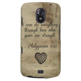 Verse Philippians 4:13 Samsung Galaxy Nexus Cases