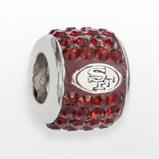 LogoArt San Francisco 49ers Sterling Silver Crystal Logo Bead   Made
