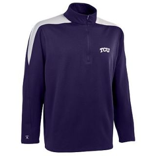 TCU Horned Frogs Succeed 1/2 Zip Jersey Fleece   Men