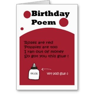 Birthday Poem Card