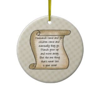Sister Poem ornament