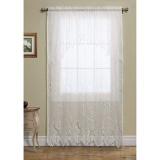 Habitat Lace Curtains   108x84, Pole Top, Attached Valance   Save 74%