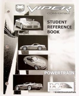 Dodge Viper SRT 10 Engine Student Technical Manual Book