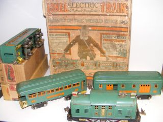 Lionel Set Pre War 10 Engine 332 Railway Mail 341 Observation 339 Car