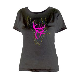 Buck Commander Womens Buck Commander Stitches S/S Logo Tee