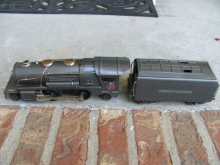 Lionel 259 E Steam Engine Whistling Tender Pre War