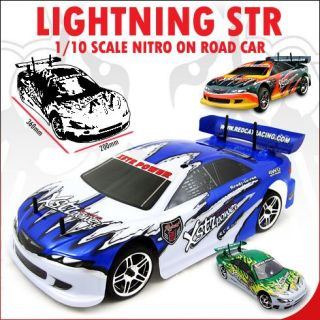 10 RC Redcat Nitro LIGHTNING STR Drift Car Green + 2.4ghz Remote