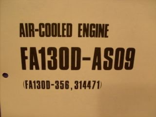 Kawasaki FA130D AS09 Parts List 4 Cycle Gas Engine