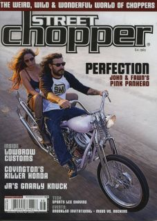 Street Chopper Magazine Dec Jan Motorcycle Bobber Bike Pin Up Triumph