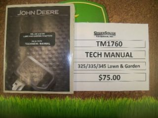 John Deere Technical Manual for 325 335 345 TM1760