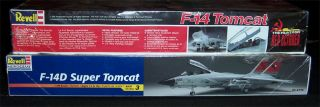 Revell Monogram F 14 Tomcat & F 14D Super Tomcat Model Kit Lot. Red