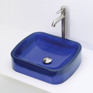 DECOLAV 2802 DEP Rectangular Above Counter Resin Lavatory, Depth