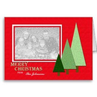 Weihnachtsbild Gruß Karten mit Bäumen