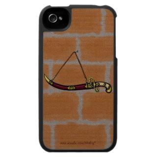 Coole antike Klinge auf Ziegelsteinwand iphone Fal