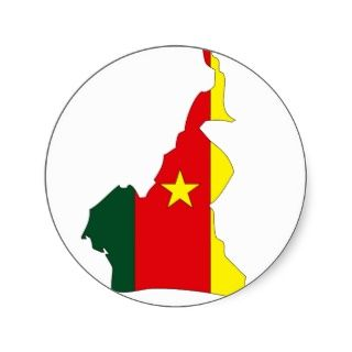Kamerun Flaggenkarte Sticker