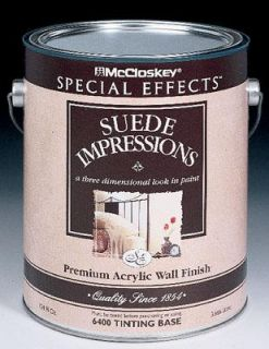 Valspar 80 6400 07 GL McCloskey Special Effects Suede Impressions Tint Base Paint (4 Pack)